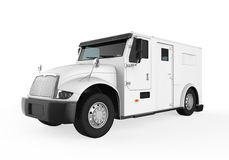 Armored Truck. Isolated on white background. 3D render Stock Photo