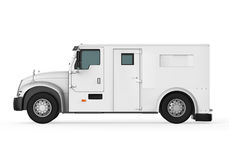 Armored Truck. Isolated on white background. 3D render Stock Images