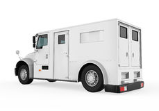 Armored Truck. Isolated on white background. 3D render Royalty Free Stock Photos