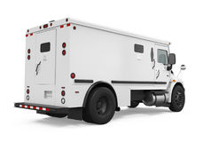 Armored Truck Isolated. On white background. 3D render Stock Images