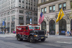 Armored truck in New York City royalty free stock image