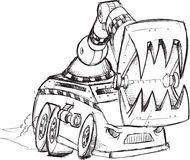 Armored Truck Sketch Stock Images
