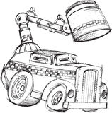 Armored Truck Sketch Royalty Free Stock Photography