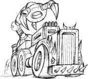 Armored Truck Vehicle Sketch Stock Photo