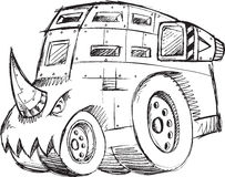 Armored Truck Vehicle Sketch Royalty Free Stock Image