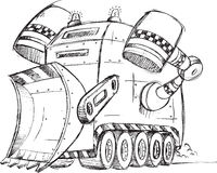 Armored Truck Vehicle Sketch Stock Photography