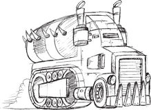 Armored Truck Vehicle Sketch Stock Photos