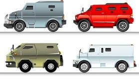 Armored Trucks Set Stock Photography