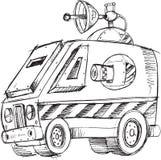 Armored Van Vehicle Sketch διανυσματική απεικόνιση