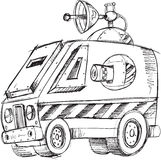 Armored Van Vehicle Sketch Stock Photos