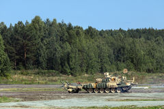 Armored vehicle for demining Stock Photography