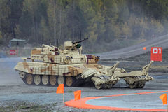 Armored vehicle for demining Royalty Free Stock Images