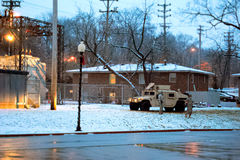 Armored Vehicle in Ferguson - Saint Louis Missouri Royalty Free Stock Photos
