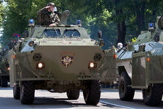 Armored vehicle military police of Serbian Guard Stock Photography