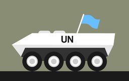 Armored vehicle of United Nations royalty free stock photo