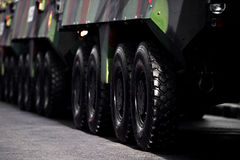 Armored vehicle wheels detail Royalty Free Stock Image