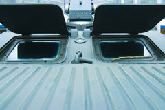 Armored vehicle windows  Stock Photo