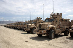 Armored Vehicles Ready for Issue in Afghanistan Royalty Free Stock Photo