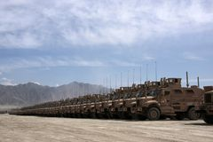 Armored Vehicles Ready for Issue in Afghanistan Stock Image