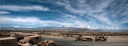 Armored Vehicles Ready for Issue in Afghanistan Royalty Free Stock Image