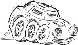 Armored War Vehicle Sketch Stock Image