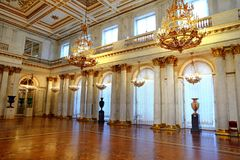 Armorial Hall interior of the State Hermitage Winter Palace royalty free stock image