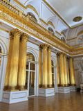 Armorial Hall of the Winter Palace royalty free stock images