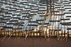 Armoring на строительной площадке для стабилизации бетона стоковое фото rf