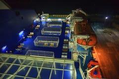 Armorique που αφήνει το λιμένα του Πλύμουθ, η πιό πρόσφατη προσθήκη στο στόλο των πορθμείων της Βρετάνης, MV Armorique που φθάνει Στοκ Φωτογραφίες