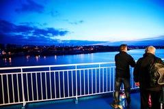 Armorique, das zu Plymouth-Hafen, der späteste Zusatz zu Brittany Ferries ' Flotte, Millivolt Armorique ankommt in Plymouth ankom Stockbilder