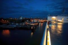 Armorique der späteste Zusatz zu Brittany Ferries ' Flotte, Millivolt Armorique, das in Plymouth ankommt Lizenzfreie Stockfotografie