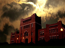 Armory. Dark scene of an old armory at night Royalty Free Stock Photography