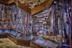 Armory gun exhibition,  Historical Museum of Estonia. The Great Guild Hall (Estoinya, Tallinn) is a permanent exhibition of the Estonian History Museum Spirit Stock Photography