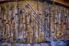 Armory gun exhibition,  Historical Museum of Estonia Royalty Free Stock Images