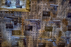 Armory gun exhibition,  Historical Museum of Estonia. The Great Guild Hall (Estoinya, Tallinn) is a permanent exhibition of the Estonian History Museum Spirit Royalty Free Stock Photo