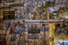 Armory gun exhibition,  Historical Museum of Estonia. The Great Guild Hall (Estoinya, Tallinn) is a permanent exhibition of the Estonian History Museum Spirit Stock Images