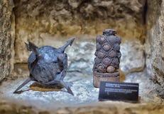 Armory gun exhibition,  Historical Museum of Estonia. The Great Guild Hall (Estoinya, Tallinn) is a permanent exhibition of the Estonian History Museum Spirit Stock Photo