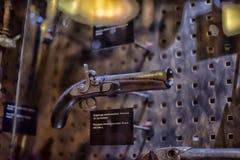 Armory gun exhibition,  Historical Museum of Estonia. The Great Guild Hall (Estoinya, Tallinn) is a permanent exhibition of the Estonian History Museum Spirit Stock Image