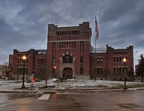 The Armory. Syracuse, New York, USA. December 25,2016. View of the Jefferson Street Armory, once used to house infantry and calvary and now the home to The Stock Photos
