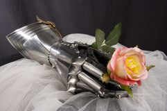 Armour. Of the medieval knight. Metal protection of the soldier against the weapon of the opponent stock photos