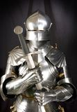 Armour. Of the medieval knight. Metal protection of the soldier against the weapon of the opponent royalty free stock photo
