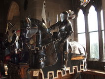Horse and Knight in Armor Royalty Free Stock Photography