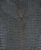 Armour. Detail of original metal chain mail Stock Images