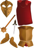 Armour of the knight. Of the crusader of times of king Arthur Royalty Free Stock Photo