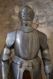 Armour in medieval building Stock Image