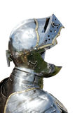 Armour of the medieval knight isolated on white Royalty Free Stock Photography