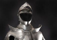 Armour. Of the medieval knight. Metal protection of the soldier against the weapon of the opponent stock image