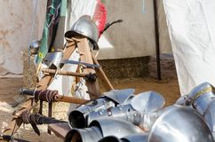 Armour of the medieval knight Royalty Free Stock Photography