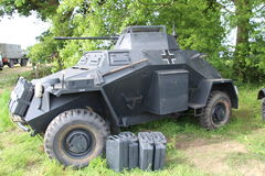 Armoured Car. Waterlooville, UK - May 28, 2017: World War 2 German army armoured car on display at a military vehicle show Royalty Free Stock Photography