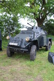 Armoured Car. Waterlooville, UK - May 28, 2017: World War 2 German army armoured car on display at a military vehicle show Stock Photo